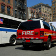Fire department car in New York City - Stock Photo