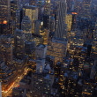 Stock Photo: Aerial view over New York City at night