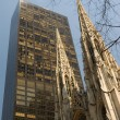 Saint Patrick Cathedral in Fifth Avenue, New York City - Stock Photo