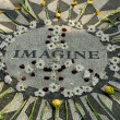 Memorial to John Lennon in Central park New York — Stock Photo