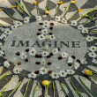 Stock Photo: Memorial to John Lennon in Central park New York