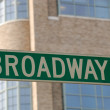 Broadway Street Sign, New York City — Stock Photo #6774853