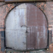 Door of an old warehouse — Stock Photo