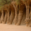 Columns in Park Guell, Barcelona Spain — Stock Photo