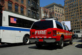 Fire department car in New York City — Foto Stock