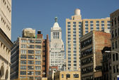 Buildings downtown in Manhattan, New York City — Stock Photo