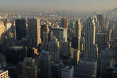 Aerial view over Manhattan, New York City — Stock Photo