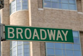 Broadway Street Sign, New York City — Stock Photo