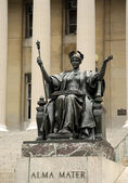 Estátua do alma mater da universidade de columbia — Fotografia Stock