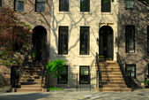 Stadthäuser in new york city — Stockfoto