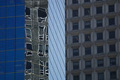 Reflections in the office building — Stock Photo