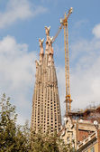 Towers of Sagrada Familia, Barcelona Spain — Stock Photo