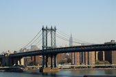 Manhattan Bridge, New York City — Stok fotoğraf