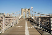 Bike and Pedestrian Lanes on the Brooklyn Bridge, New York — Stock Photo