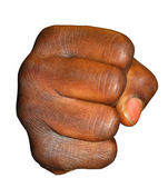 Black fist — Stock Photo
