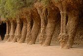 Colonnes dans le parc Güell, Barcelone Espagne — Photo