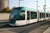 Modern urban tramway in Barcelona Spain — Stock Photo