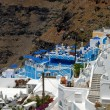 View over Thira, Santorini Greece — Stock Photo