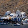 Restaurant on the island Thirassia near Santorini, Greece — Stockfoto