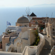 View over Oia, town on the island Santorini in Greece — Stock Photo