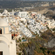 Aerial view over Thira, Santorini, Greece — Stock Photo