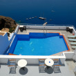 Swimming pool in Santorini, Greece — Stock Photo