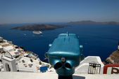 View over Caldera from Santorini, Greece — Foto Stock