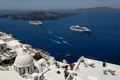View over the islands of Santorini, Greece — Stock Photo