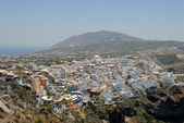 Aerial view over Santorini, Greece — Stock Photo