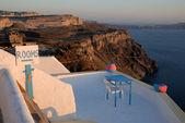Sign for Rooms in Santorini, Greece — Stock Photo