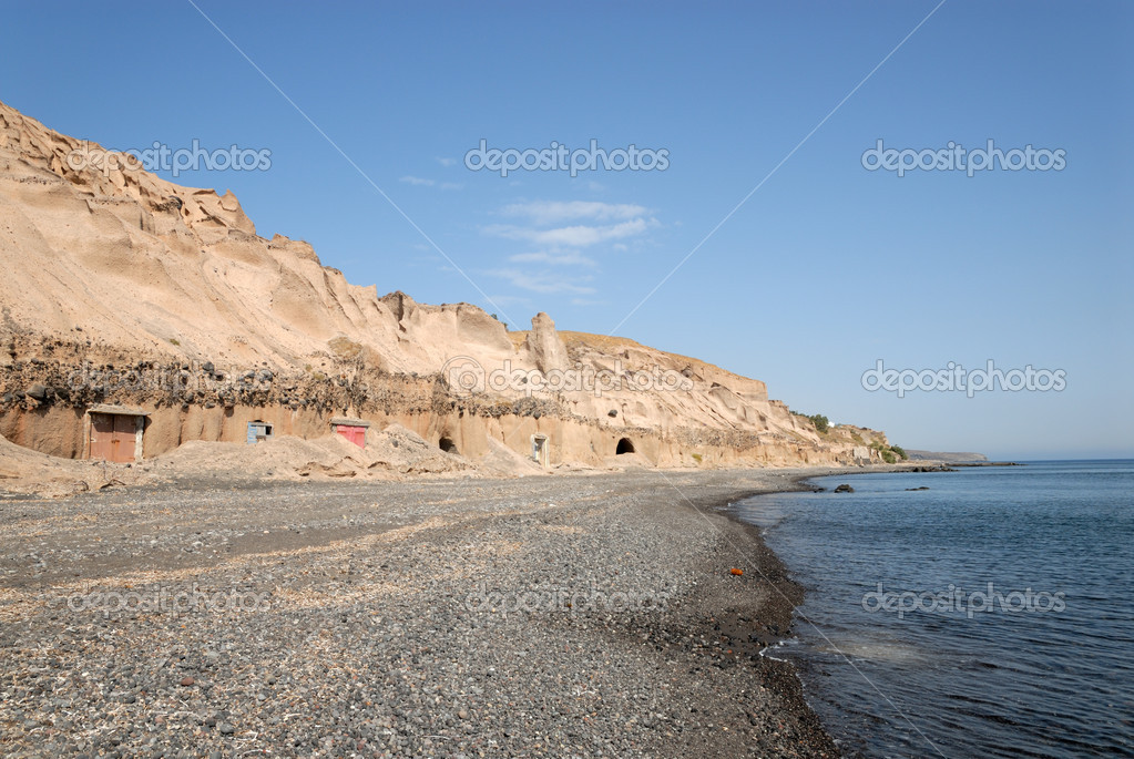 Beach in Santorini, Greece — Stock Photo #6866887