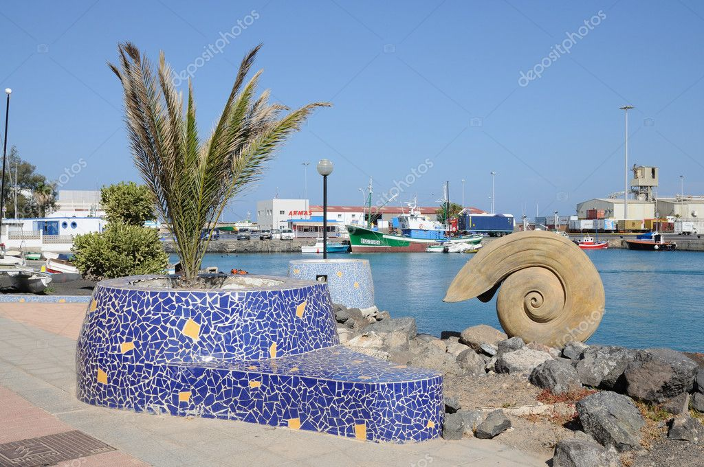 Promenade in Puerto del Rosario, Canary Island Fuerteventura, Spain  Stock Photo #6888537
