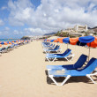 Sun lounger on the beach, Fuerteventura — Stock Photo