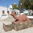 Camel sculpture in Tuineje, Fuerteventura — Stockfoto #6893294