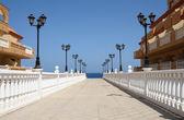 散步在西班牙德菲斯泰,加那利岛、 富埃特文图拉卡莱塔 — 图库照片