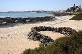 Plage près de ville corralejo, canaries île fuerteventura — Photo
