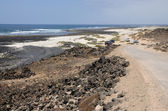 Coast near El Cotillo on Canary Island Fuerteventura, Spain — Stockfoto