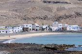 Köy pozo balıkçılık negro, kanarya adası fuerteventura, i̇spanya — Stok fotoğraf