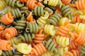 Pasta italiana tricolore - trottole — Foto de Stock