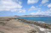 Kust op canarische eiland fuerteventura, spanje — Stockfoto