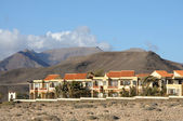 Residential houses in La Pared. Canary Island Fuerteventura, Spain — Stock Photo