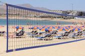 Volleyball on the beach. Canary Island Fuerteventura, Spain — Stock Photo