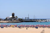 Pláže caleta de fuste, kanárské ostrov fuerteventura, španělsko — Stock fotografie