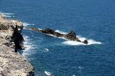 West coast de fuerteventura perto de ajuy. ilhas canárias, espanha — Foto Stock