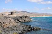Costa perto de el cotillo. ilha de canárias fuerteventura, espanha — Foto Stock
