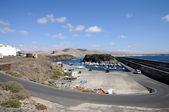Rybářský přístav el cotillo. fuerteventura, španělsko — Stock fotografie