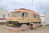 Old camper in a trailer park. Fuerteventura, Canary Islands Spain — Stock Photo