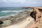 Rotsachtige westkust van het canarische eiland fuerteventura — Stockfoto