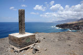 Ilha de costa rochosa do oeste das canárias fuerteventura — Foto Stock