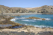 Costa oeste rochosa de fuerteventura, ilhas canárias, espanha — Foto Stock